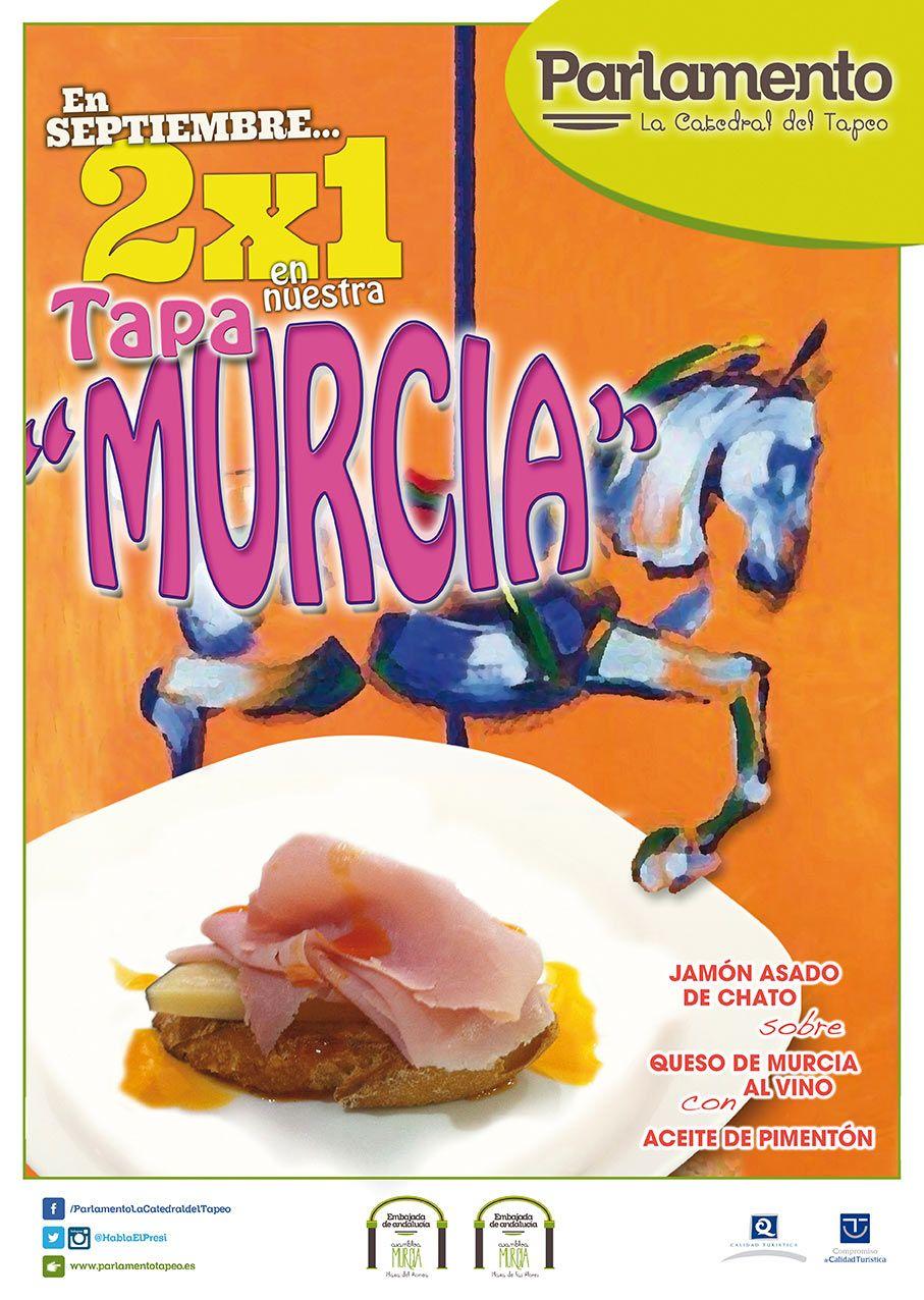 cartel de la tapa de Murcia hecha por Parlamento la Catedral del Tapeo