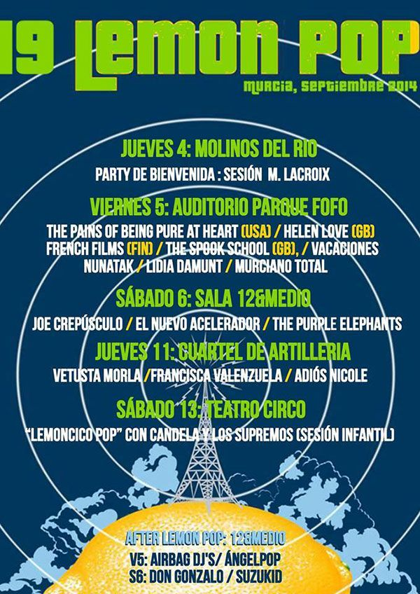 Cartel del 19º Festival Lemon Pop en Murcia