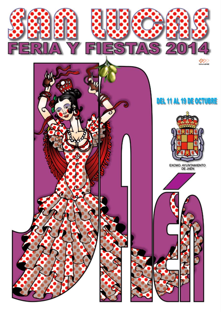 cartel feria de jaen 2014 y fiestas san lucas