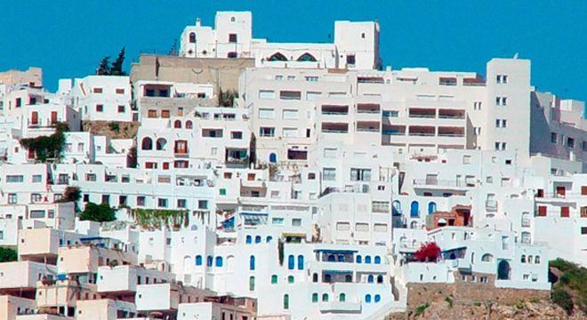 casas blancas tipicas de mojacar pueblo