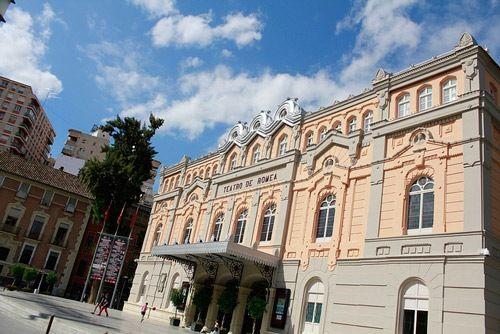 vista frontal del teatro romea de murcia