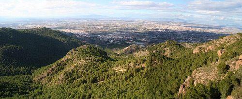 El valle y carrascoy de murcia, vistas