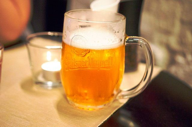 jarra cristal cerveza pilsen