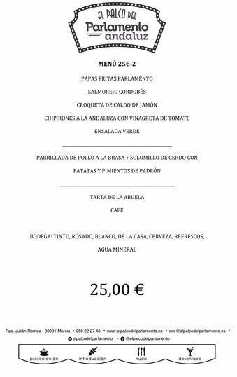 menu de grupo de 25 euros b
