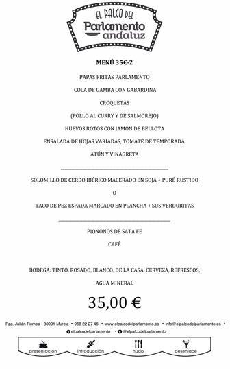 menu de grupo de 35 euros b