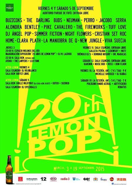 cartel actuaciones festival lemon pop 2015 en murcia