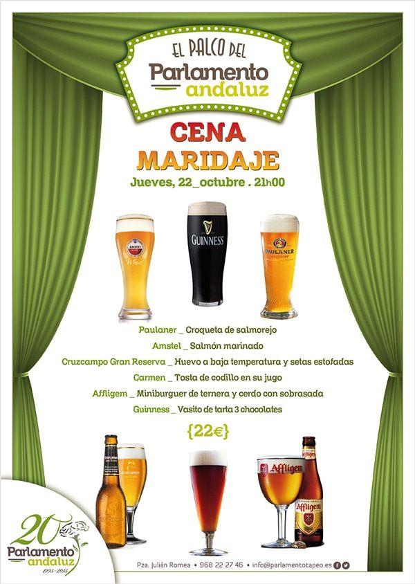 cartel de la cata de cervezas