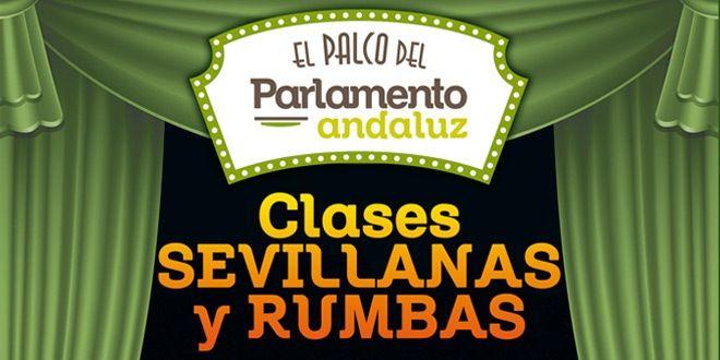cartel clases sevillanas en el palco del parlamento en murcia