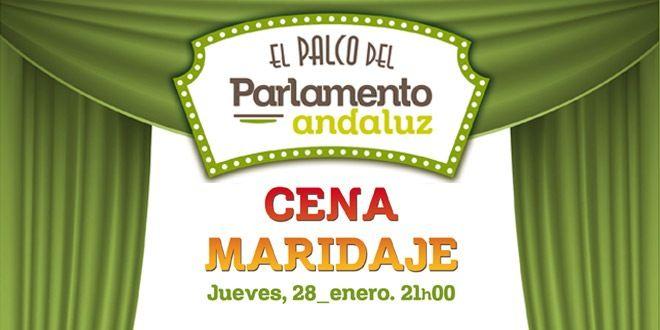 cartel cena maridaje palco parlamento bar andaluz murcia