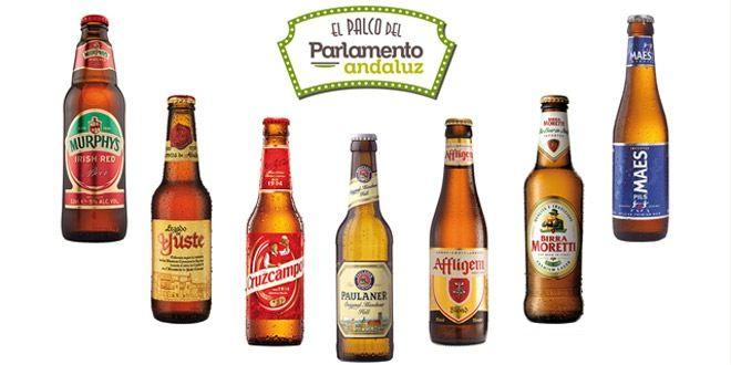 tipos de cervezas participantes en la cena maridaje de cervezas en el palco del parlamento de murcia