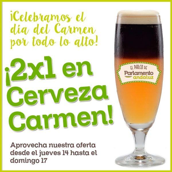 promocion en cerveza carmen en murcia con 2x1