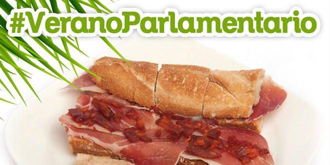 verano parlamentario con bocadillo parlamentario