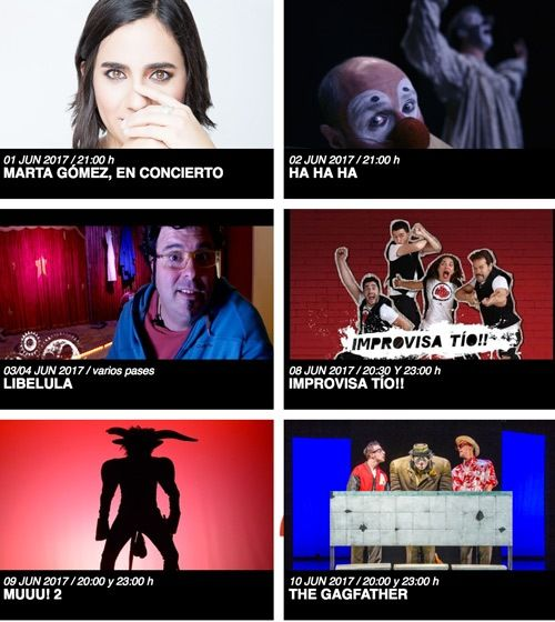 obras del teatro circo en junio