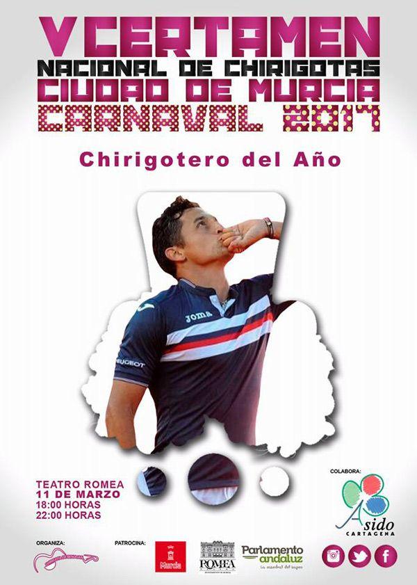 Nico Almagro, chirigotero del año, certamen chirigotas Murcia