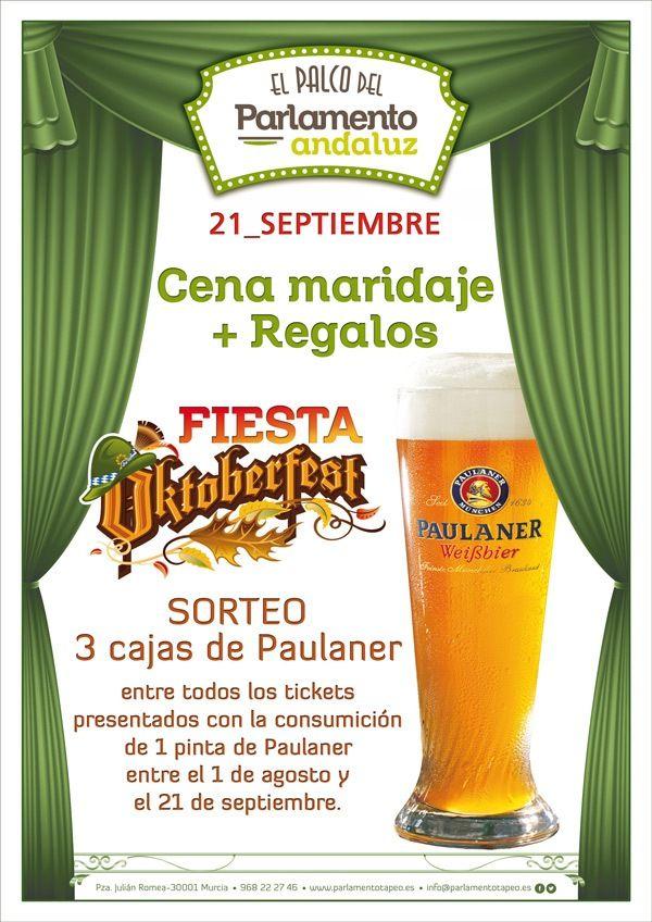 cartel de la Oktoberfest en El Palco del Parlamento de Murcia