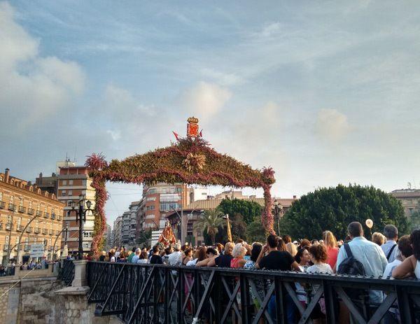 Virgen de la Fuensanta en Romería hacia su santuario
